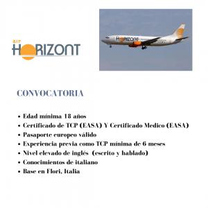 Air Horizont busca TCPs para su base en Flori, Italia