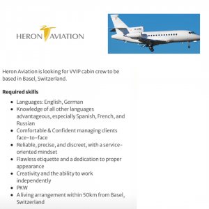 Heron Aviation busca TCPs
