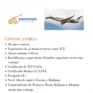 La aerolínea Marathon está buscando actualmente TCP's para su base en Grecia.