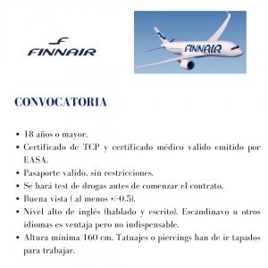 La compañía aérea Finnair busca TCPs