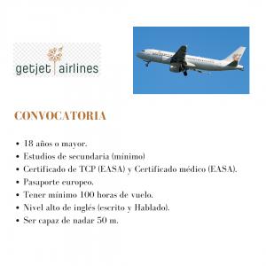 getjet airlines busca tripulantes de cabina